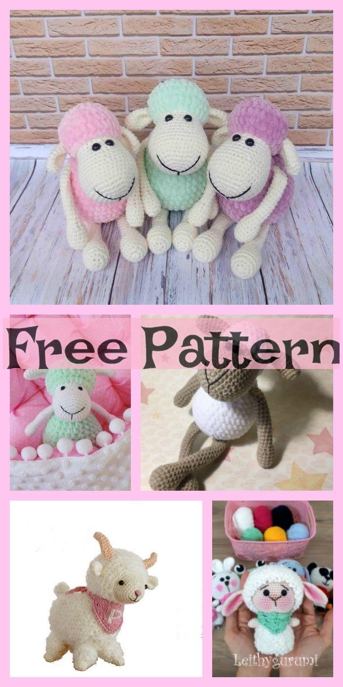 8 Cutest Crochet Sheep Amigurumi Free Patterns | fun crafts to