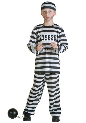 Child Prisoner Costume - Childrens Prisoner Halloween Costume