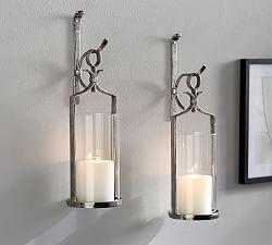 Artisanal Wall-Mount Candleholder - Silver