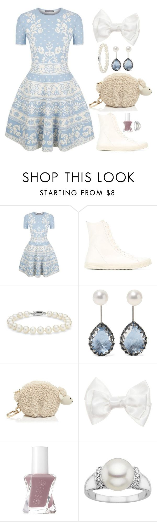 """""""Sweet Sheep"""" by theoctopusjar ❤ liked on Polyvore featuring Alexander McQueen, Rick Owens, Blue Nile, Larkspur & Hawk, Tory Burch and Essie"""