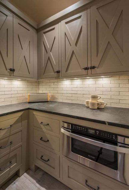 58+ ideas barn door kitchen cabinets islands #kitchen # ...