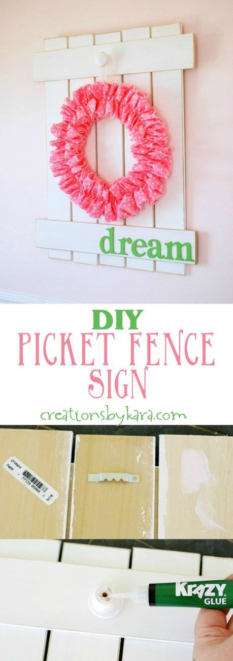 Diy Picket Fence Sign- this easy project is a fun way to add a touch of farmhouse decor to your home!