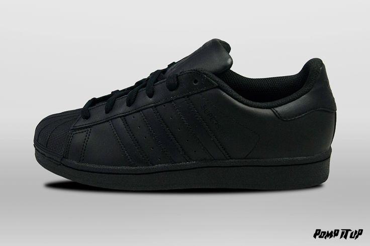 Adidas Superstar Foundation (CBLACK/CBLACK/CBLACK) Sizes: 36 to 46 EUR Price: CHF 130.- #Adidas #Superstar #Foundation #AdidasSuperstar #Sneakers #SneakersAddict #PompItUp #PompItUpShop #PompItUpCommunity #Switzerland