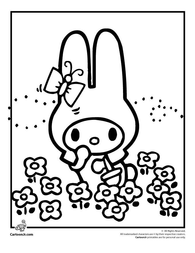 Hello Kitty Coloring Pages Hello Kitty Easter Bunny Coloring Page Cartoon Jr Hello Kitty Colouring Pages Hello Kitty Coloring Kitty Coloring