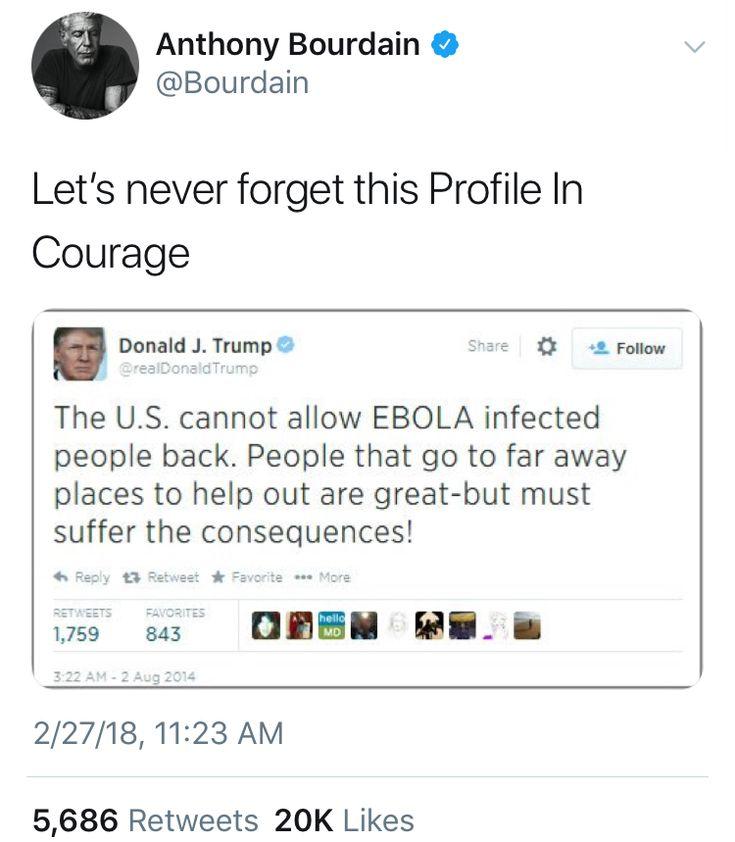 Trump is ... a disease.