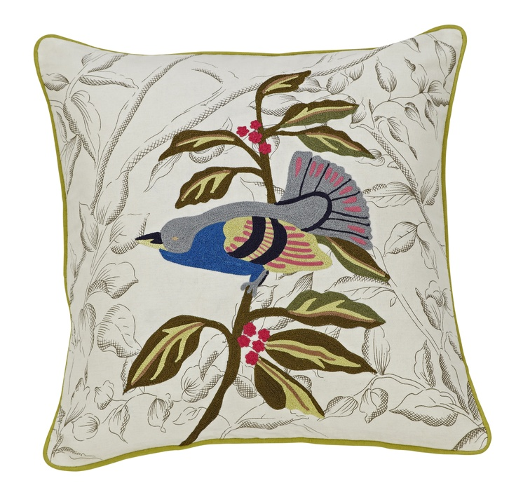 Our Hummingbird Embroidered Cushion is one of our favourites - the colourful design offers a bold statement to any room. #kushloving    www.kushliving.com.au