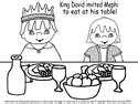 Mephibosheth bible david the king pinterest sunday for David and mephibosheth coloring page