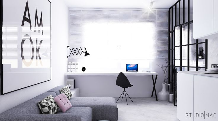 Minimalistic studio designed by www.studiomac.pl