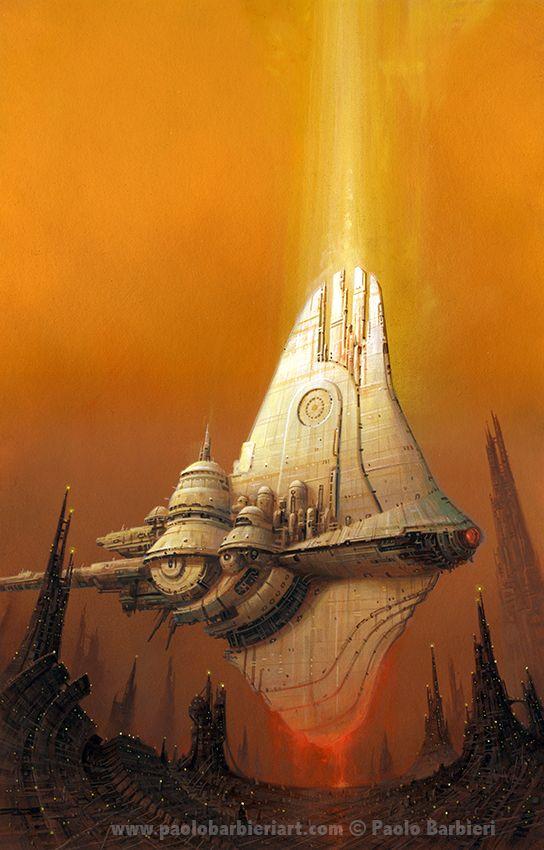 Starship Oberon - Paolo Barbieri Art