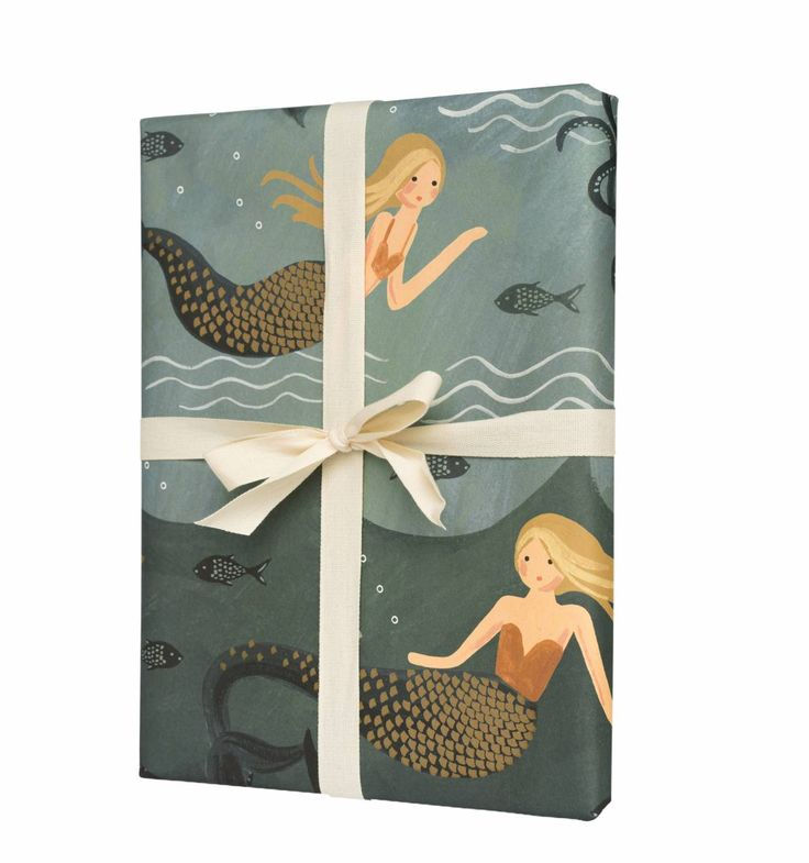 Mermaid Set of 3 Decorative Wrapping Sheets