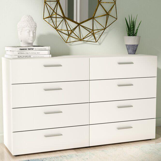 Dendron 8 Drawer Double Dresser In 2021 Dresser Decor Ikea Drawers White Dresser Bedroom