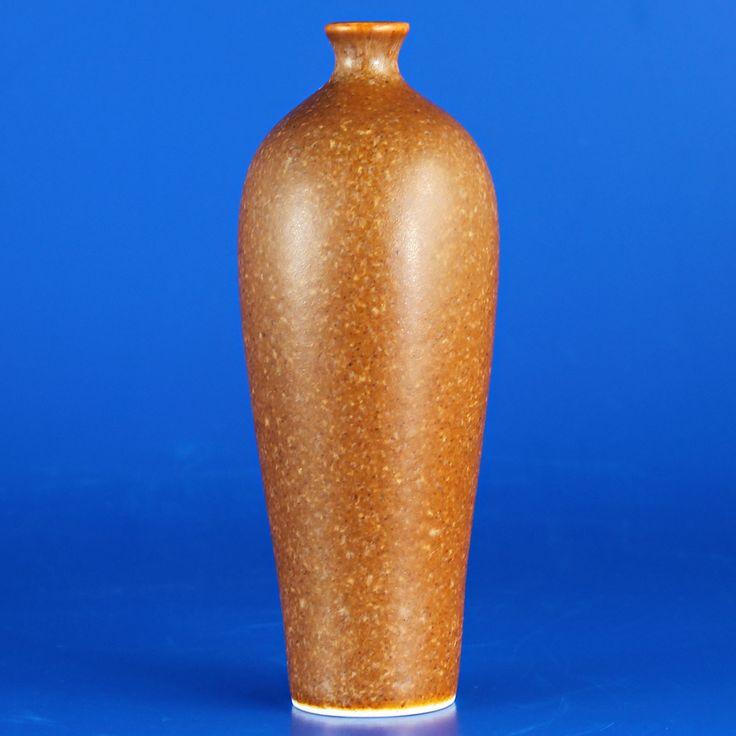 Annikki Hovisaari (Arabia 1960's) Classy golden brown vase