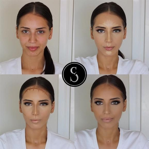 facial contouring with makeup