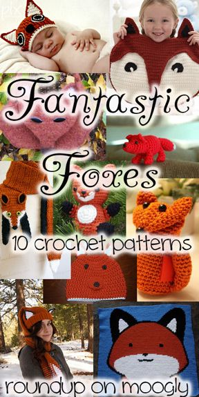Fantastic Crochet Fox Patterns - a collection of 10 great patterns, 7 free, 3 for purchase. I love the Fox Amigurumi!