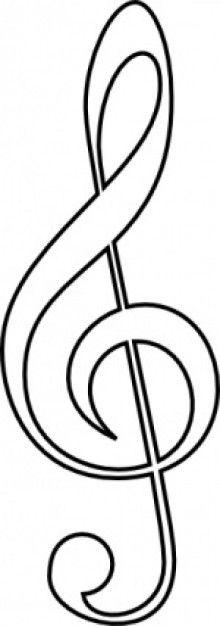 Free Treble Clef clip art