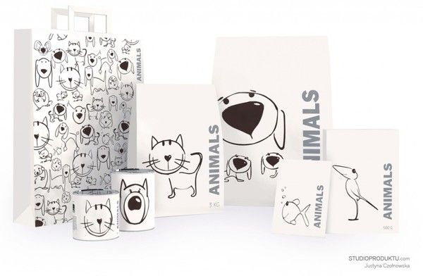 Packaging for pet food | Animals by Justyna Czołnowska, via Behance