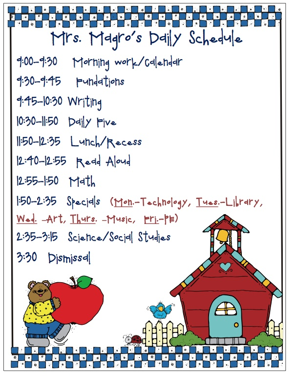 Classroom Schedule Ideas : Best classroom schedule images on pinterest