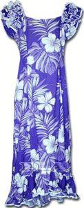 Luau Hawaiian Muumuu (Purple)Single Hibiscus100% Cotton