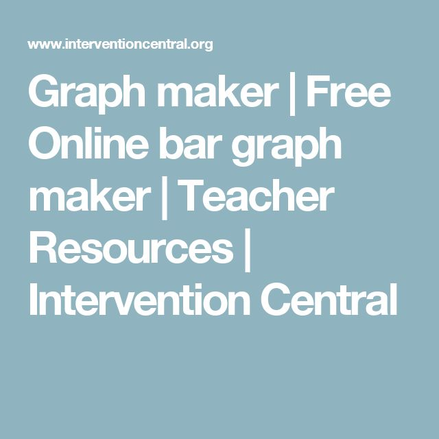 Graph maker | Free Online bar graph maker | Teacher Resources | Intervention Central