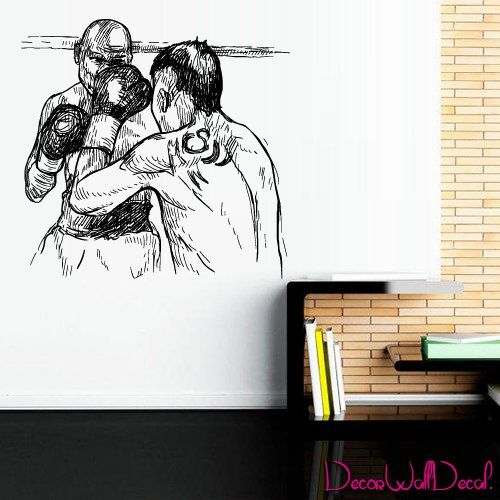 Wall Decal Vinyl Sticker boxing gloves sport fight man bedroom cave ring M1681. Thank you for visiting our store!!! Please read the whole description about this item and feel free to contact us with any questions! Vinyl wall decals are one of the latest trends in home decor. Vinyl wall decals give the look of a hand-painted quote, saying or image without the cost, time, and permanent paint on your wall. They are easy to apply and can be easily removed without damaging your walls. Vinyl…