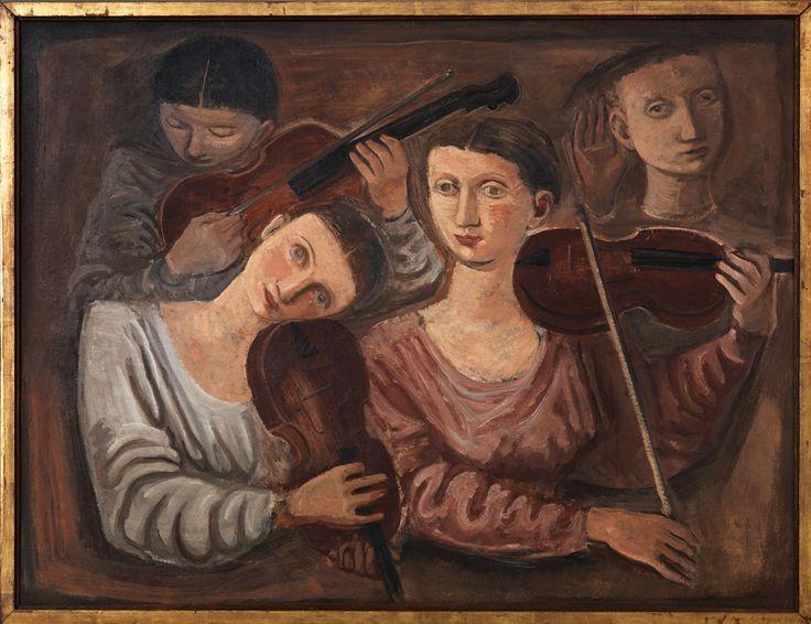 Violini (Concerto), 1934, Massimo Campigli. Italian (1895 – 1971)