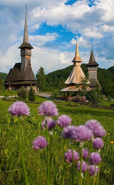 Barsana, Rumanía - El Monasterio de Barsana es uno de los monasterios más bellos de Rumania y del mondo .se encuentra en el pueblo homónimo de Barsana