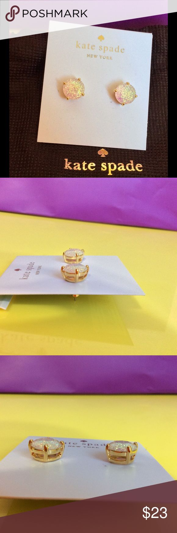 Brand New Kate Spade Glitter Opal Stud Earrings Brand New with tag and pouch. Price firm. kate spade Jewelry Earrings
