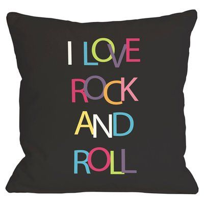 One Bella Casa Rock and Roll Throw Pillow