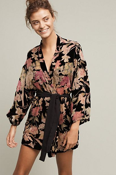 Only Hearts Twining Vine Kimono Robe #anthropologie