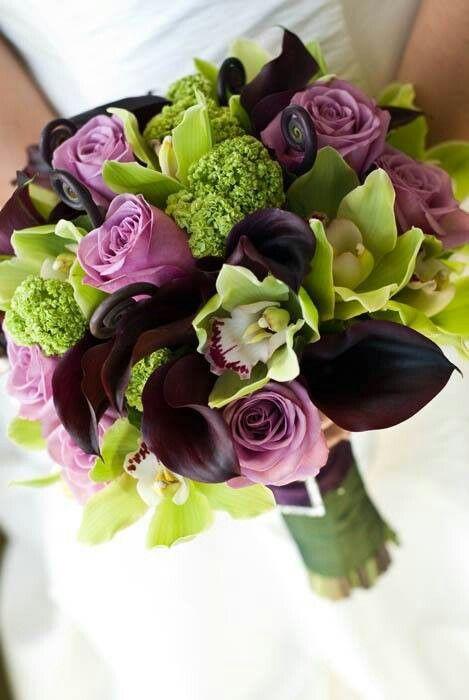 Calas, rosas cool water,cymbidium, viburnum opulus
