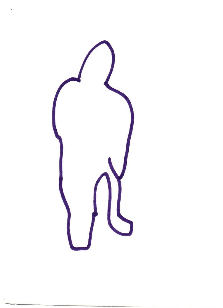 contour drawing kneeling figure -steady hand