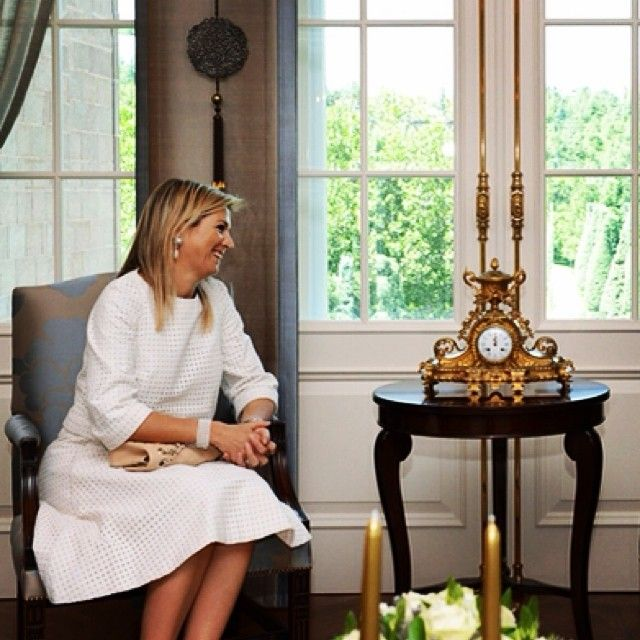 10-07-2014  Queen Maxima in Turkey.