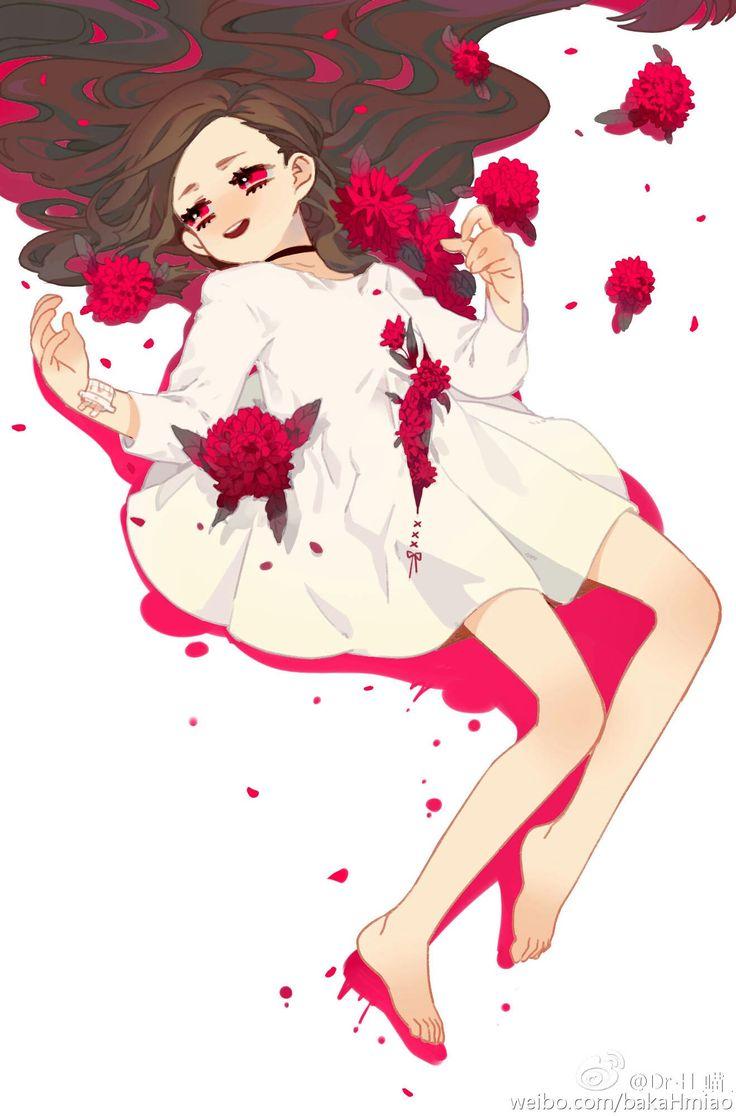 Red Dahlia (Illustrator: Dr. H喵)