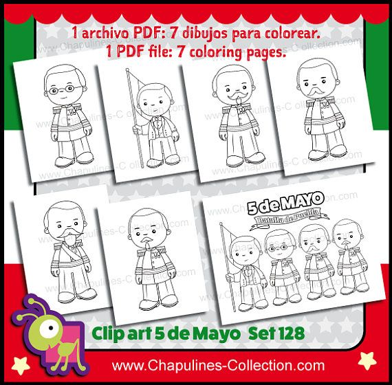 5 De Mayo Clipart Black White And Coloring Pages Mexican