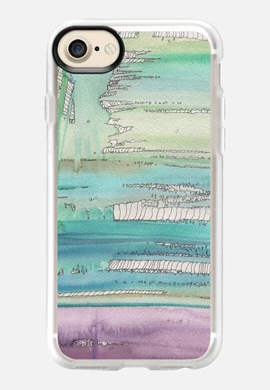 Seasky ll art work by Patricia Sodré for Casetify.  #watercolor #sea #sky #abstract #paint #iphonecase #casetify #patriciasodre