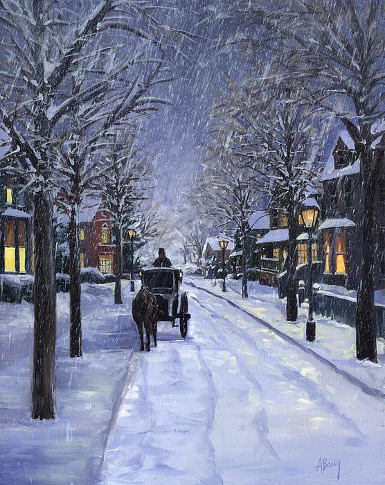 Beautiful Christmas scene by Alecia Underhill.                                                                                                                                                                                 More