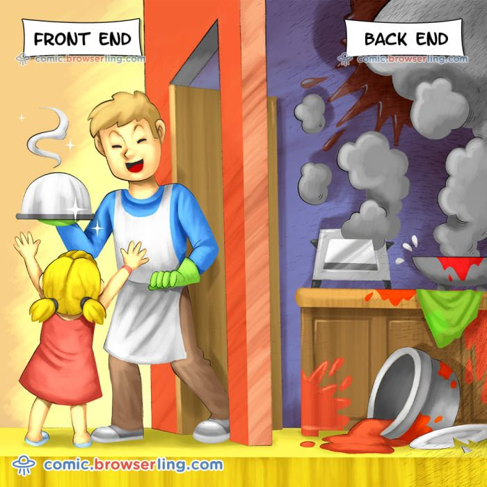 Just Kill Em Frontend Vs Backend Frontend Backend Javascript