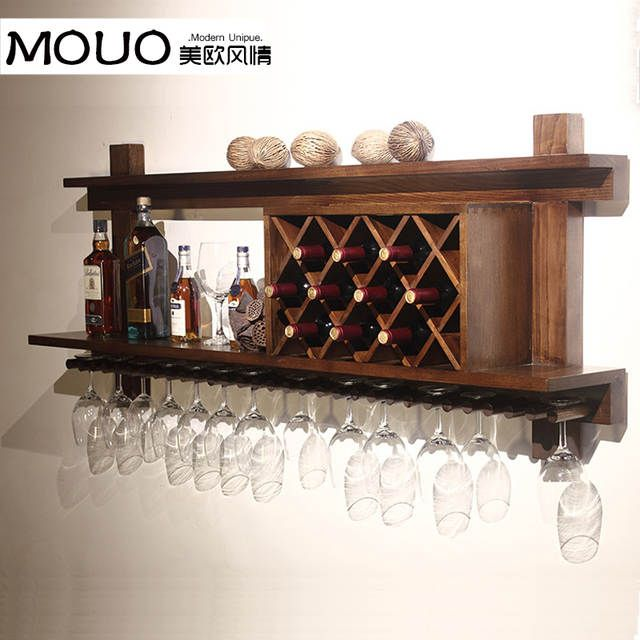 Online Shop Wall Mounted Wood Wine Rack Wine Rack Wine Cooler
