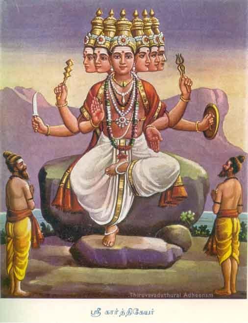 Sri Karthikeya (Muruga) - He who was brought up by the 6 Kartikeya maidens (The Pleiades.