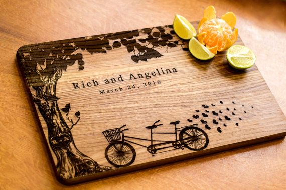 Wedding Gift Personalized Cutting Board by HeartwarmingGift