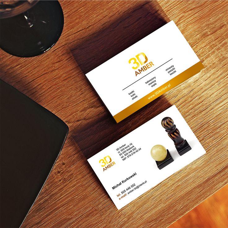 Logo, Katalog, wizytówki 3D Amber