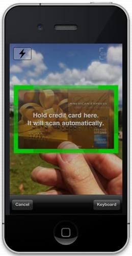 credit card scanner through wallet