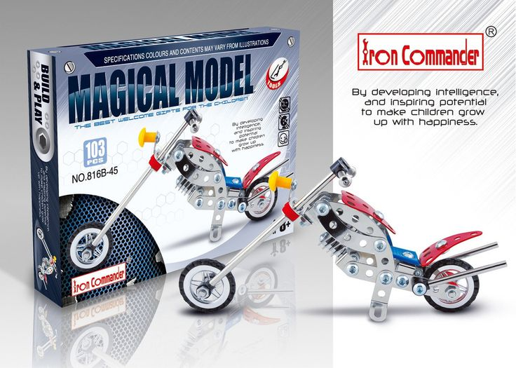 Tigris Wholesale Small Metal Toy Motorbike DIY 103 pcs  - Availability: in stock - Price: £8.39