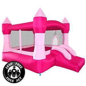 Buy Pink Princess Bounce House Girls Jumper Castle Bouncer Inflatable with Blower