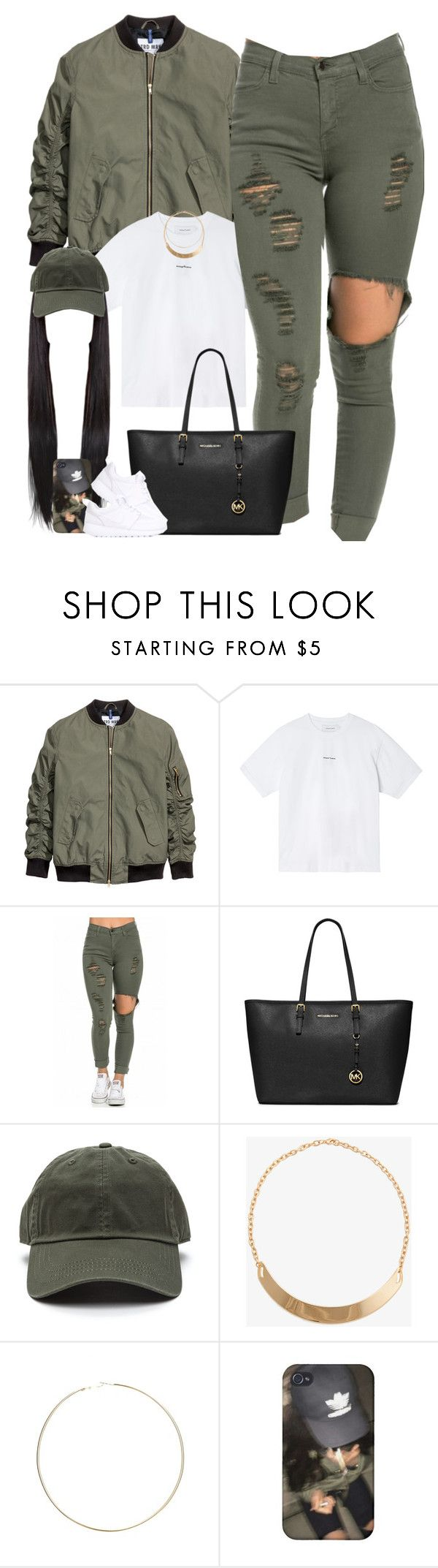 """Olive Green ♡"" by thatchickcrazy ❤ liked on Polyvore featuring Marques'Almeida, MICHAEL Michael Kors, Forever 21, ASOS and NIKE"