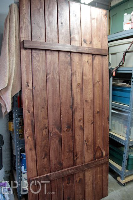 Epbot make your own sliding barn door for cheap for Create your own closet