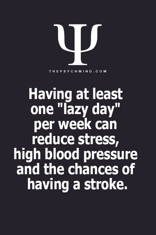 Lazy Day = Health Day
