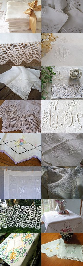 Lovely Linens by Tanya Kleinjan on Etsy--Pinned with TreasuryPin.com