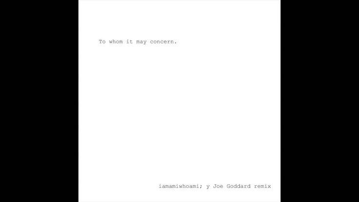 iamamiwhoami; y (Joe Goddard remix)