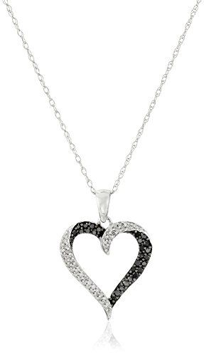 #blackdiamondgem 10k White Gold Black and White Diamond Heart Pendant Necklace (1/3 cttw), 18″by Amazon Curated Collection - See more at: http://blackdiamondgemstone.com/jewelry/necklaces/pendants/10k-white-gold-black-and-white-diamond-heart-pendant-necklace-13-cttw-18-com/#sthash.kgPx6qDo.dpuf